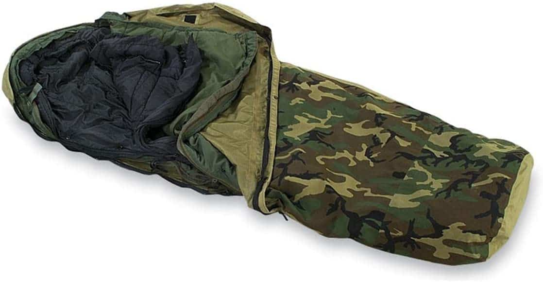 Military Outdoor Clothing Previously Issued U.S. G.I. Modular Sleeping Bag System