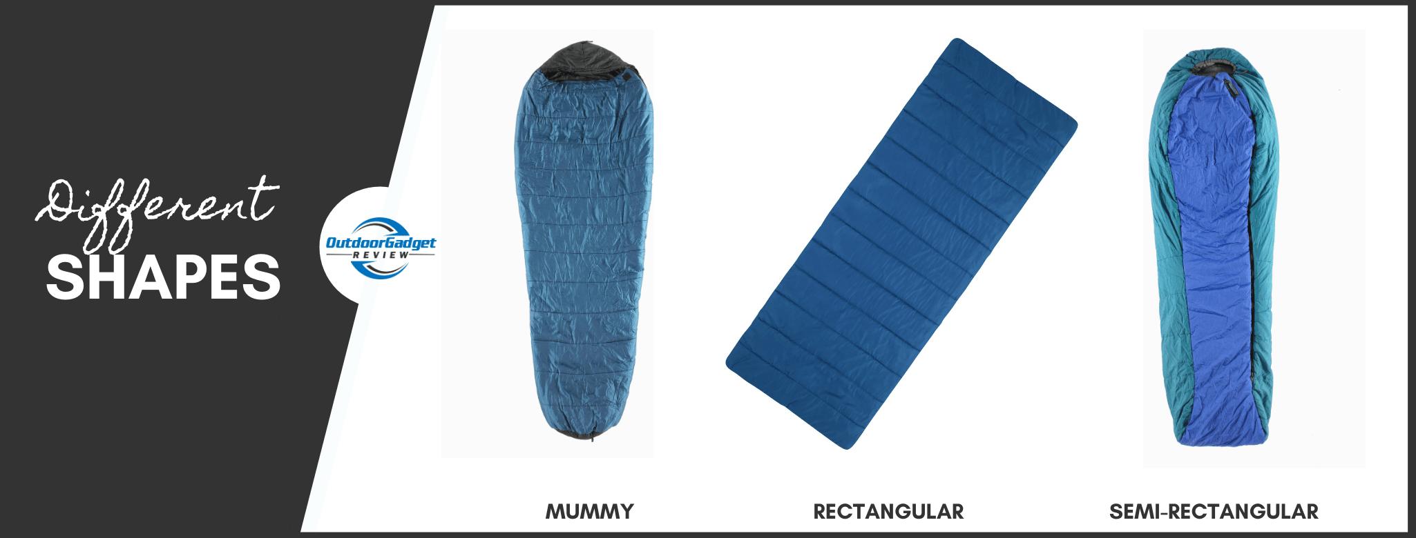 Shapes of Sleeping Bag