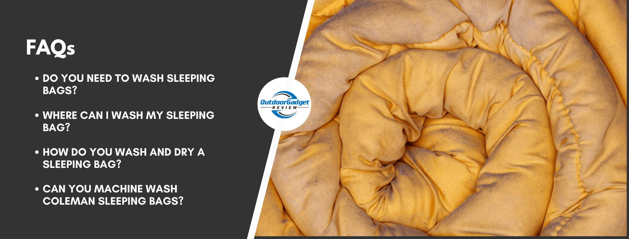 Washing a sleeping bag FAQs