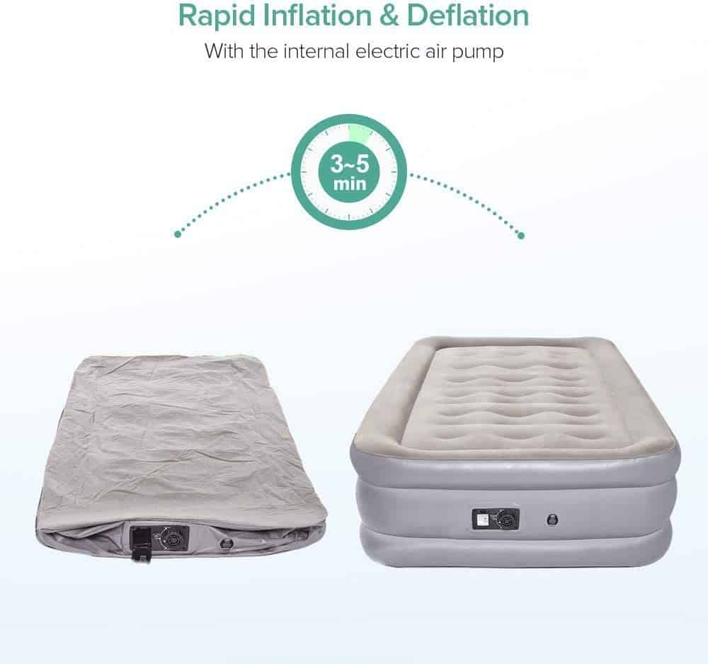 Air Bed Sable Air Mattress, Double Size Inflatable Blow Up Bed 2