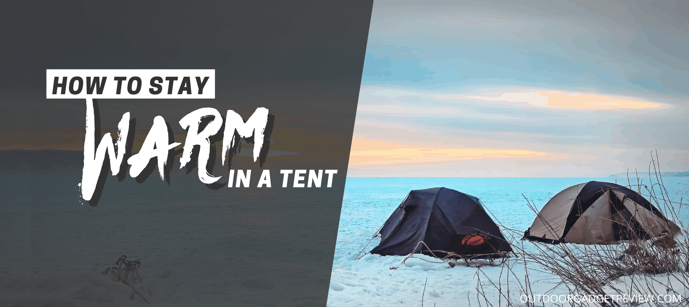 Camping in the rain banner