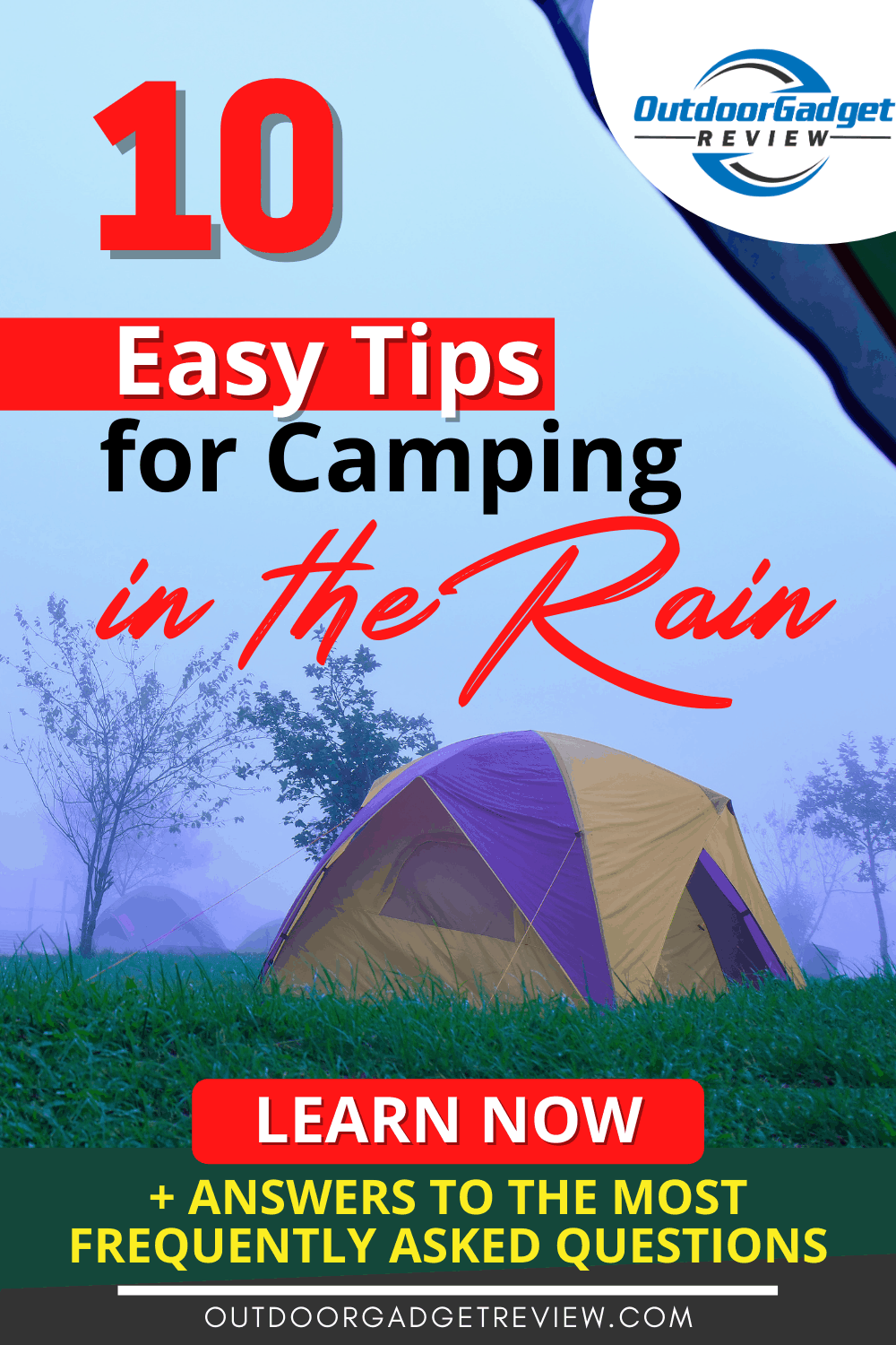 Camping in The Rain - Top Tips & FAQs
