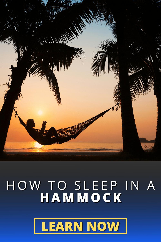 How to Sleep Comfortably in a Hammock
