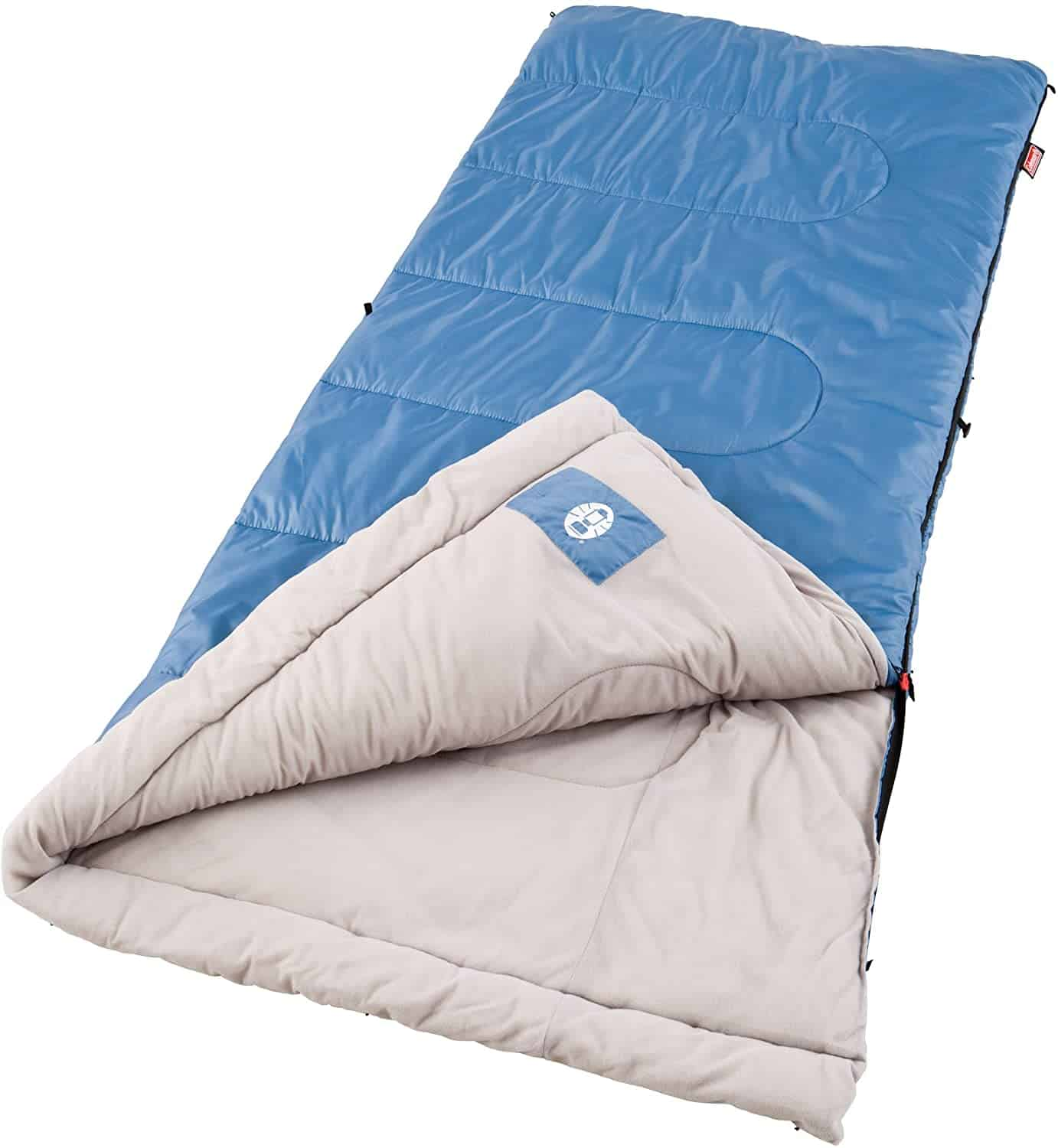 Coleman Sun Ridge 40°F Warm Weather Sleeping Bag, Blue
