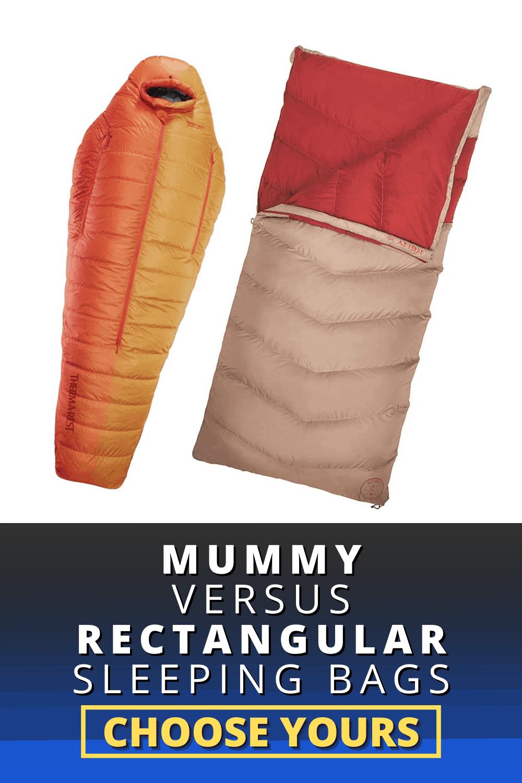 MUMMY VERSUS RECTANGULAR SLEEPING BAGS