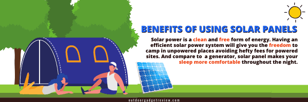 Benefits of Solar Panel in Camping