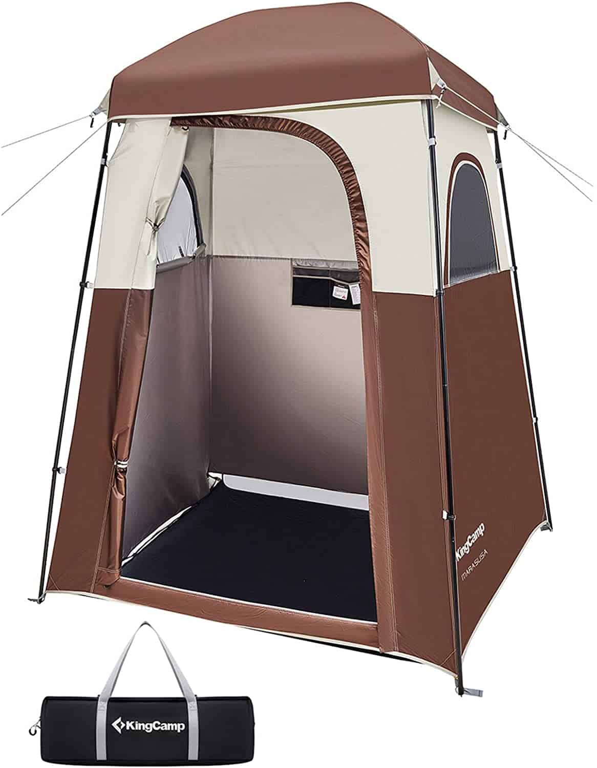 Kingcamp Oversize Extra Wide Camping Privacy Shelter Tent, Portable Outdoor Shower Tent Dressing Changing Room with Carry Bag, Camp Toilet, Easy Set Up
