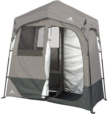 Ozark Trail 2Room 7 x 3.5 Instant Shower Utility Shelter Dark Grey