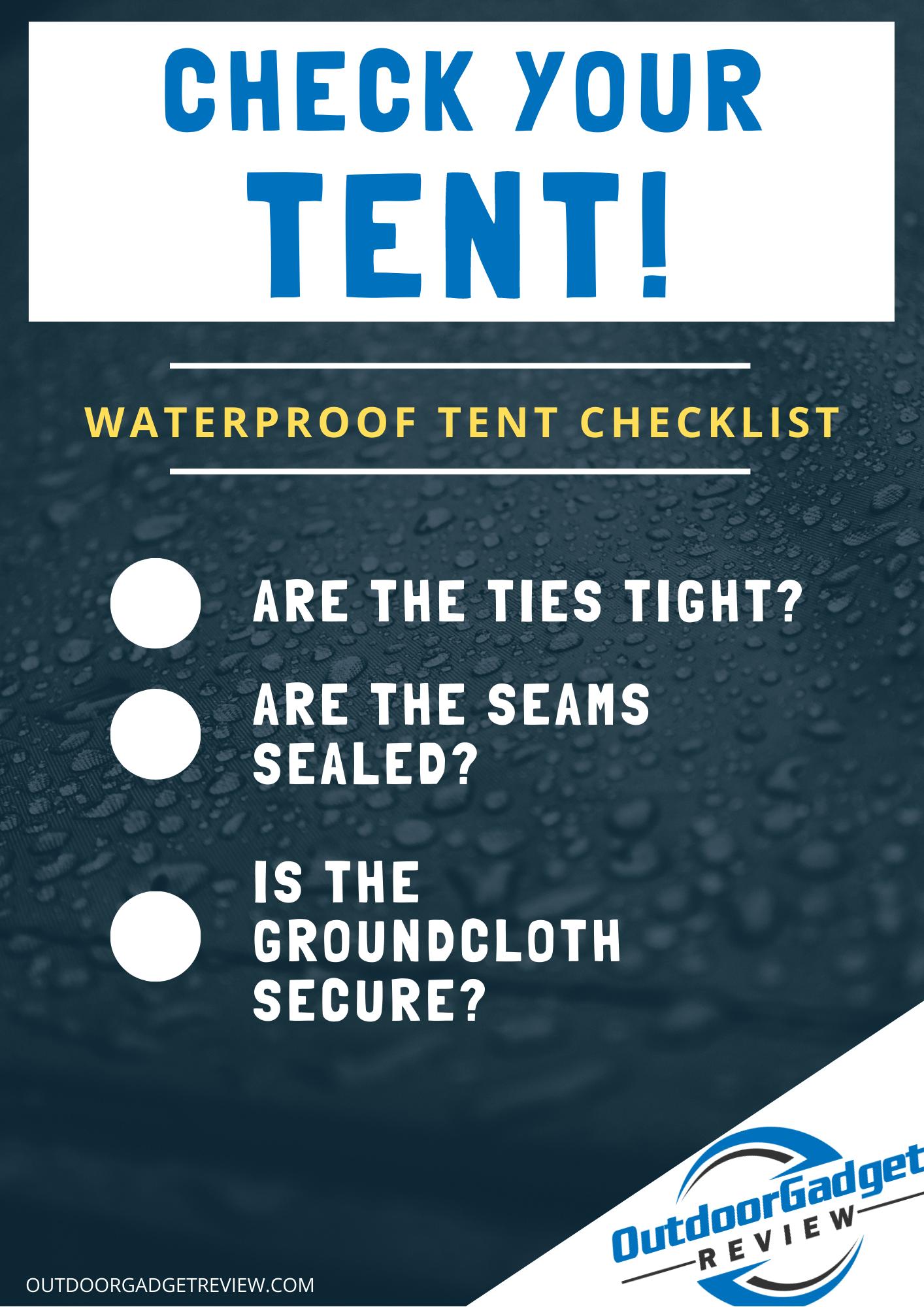 Waterproof Tent Checklist