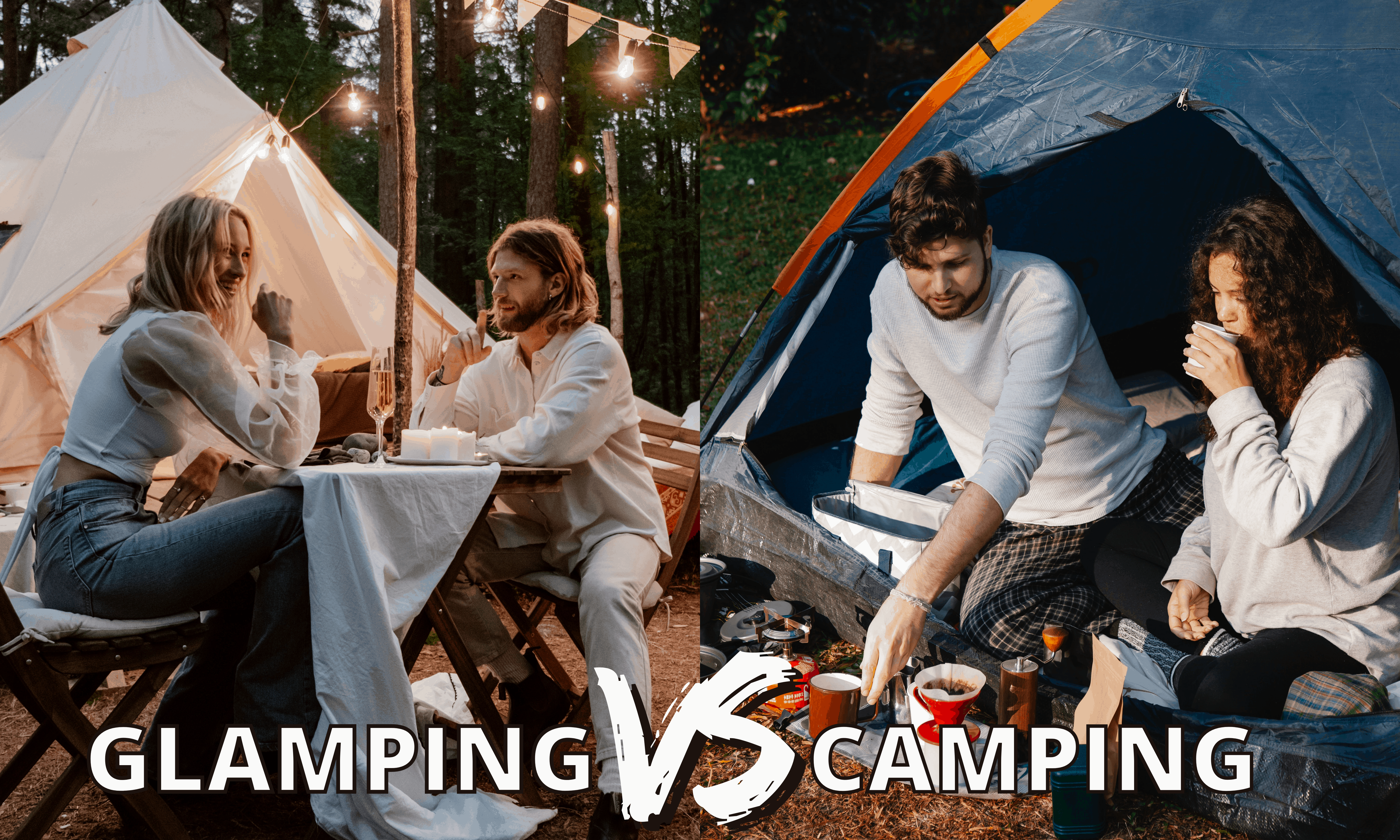 What's difference between glamping and camping? COMFORT.