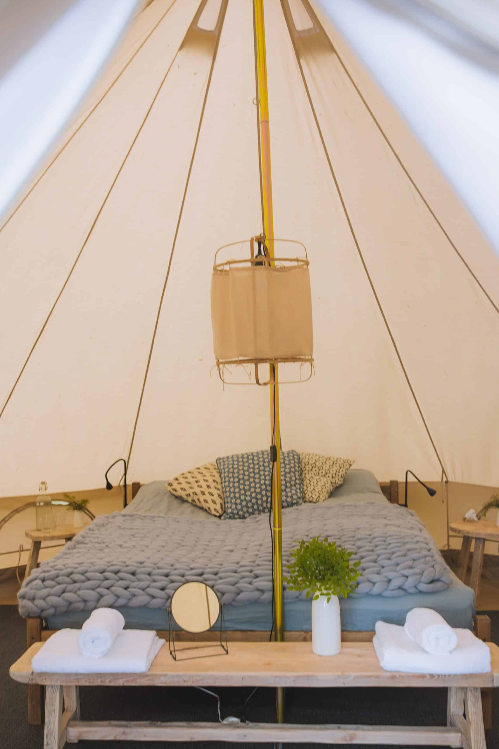 What would a glamping be if you don't get a comfortable and cozy bed?