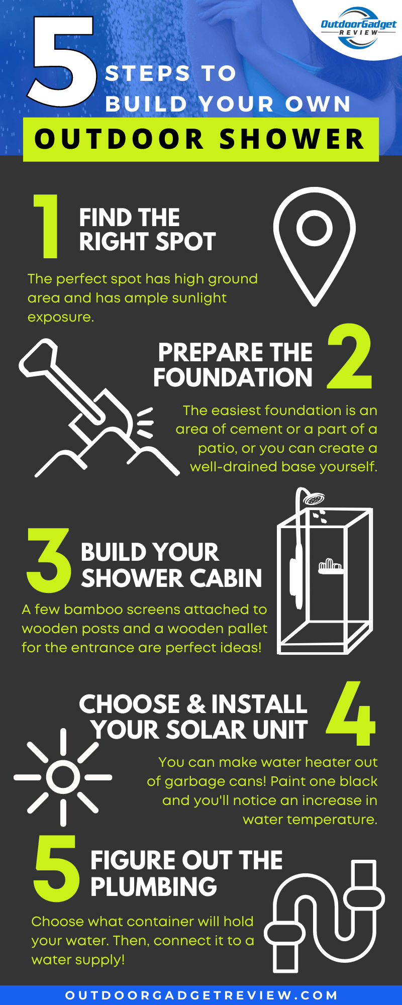 5 Steps on How to build your own outdoor shower