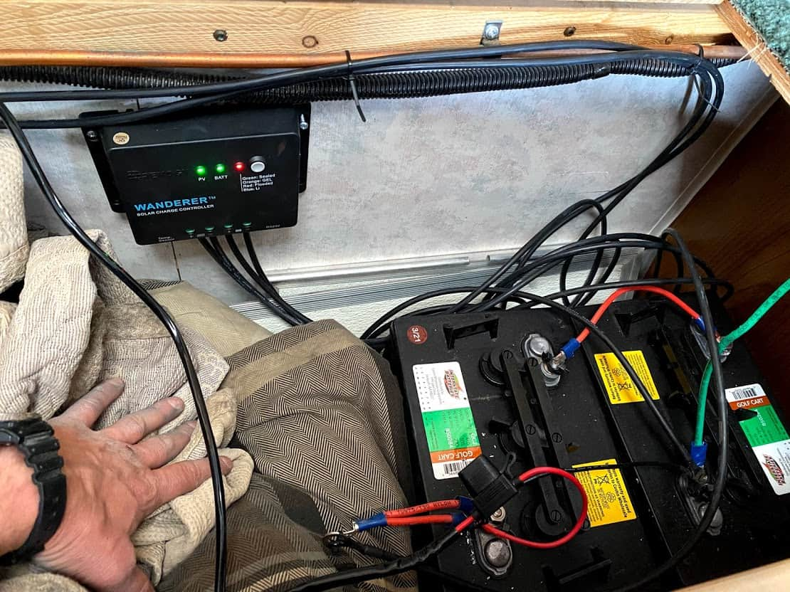 Wire the panels to RV