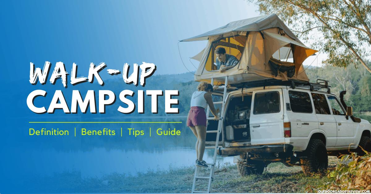 Walk-up Campsite Banner