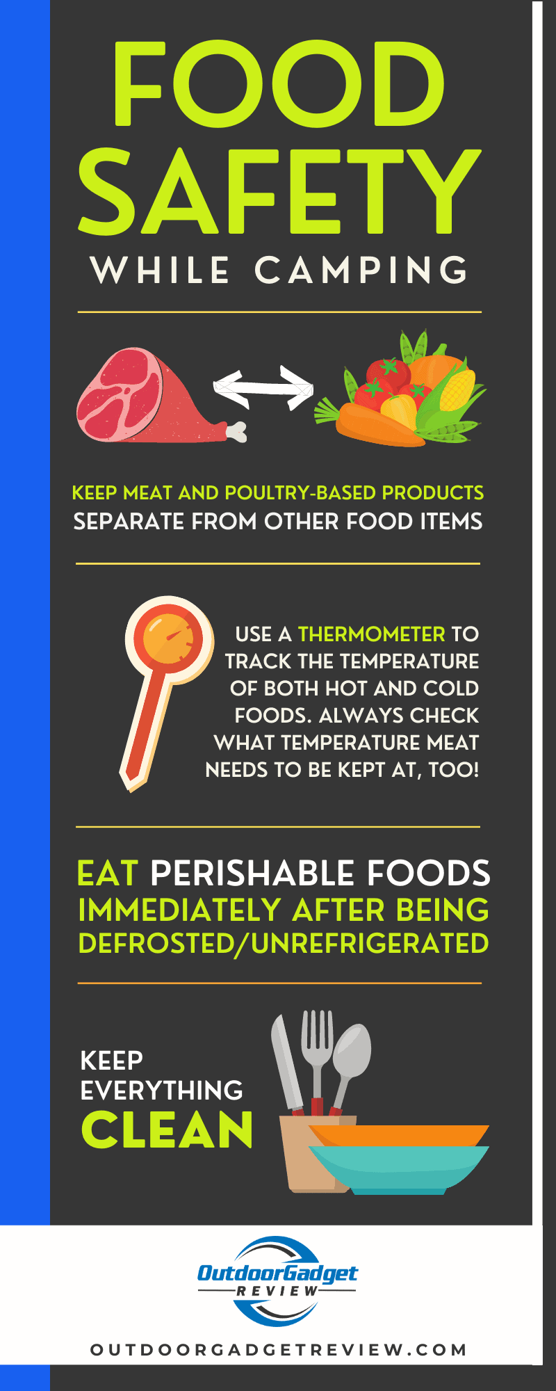 Food Safety Tips While Camping
