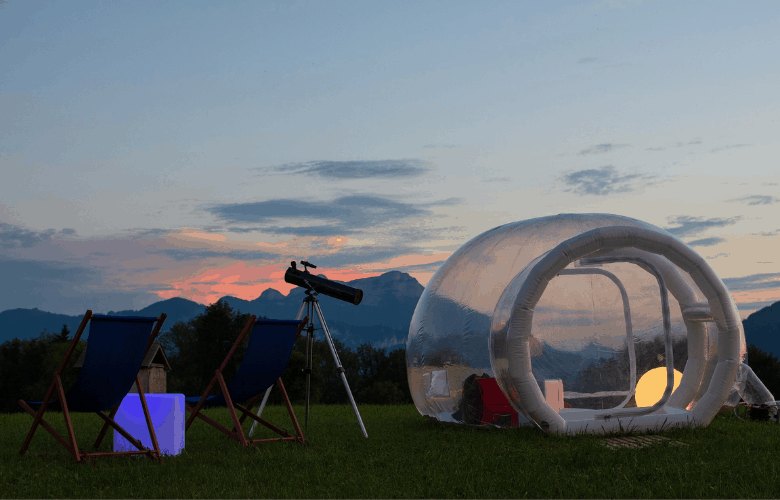 Bubble Tent for Night Sky Viewing