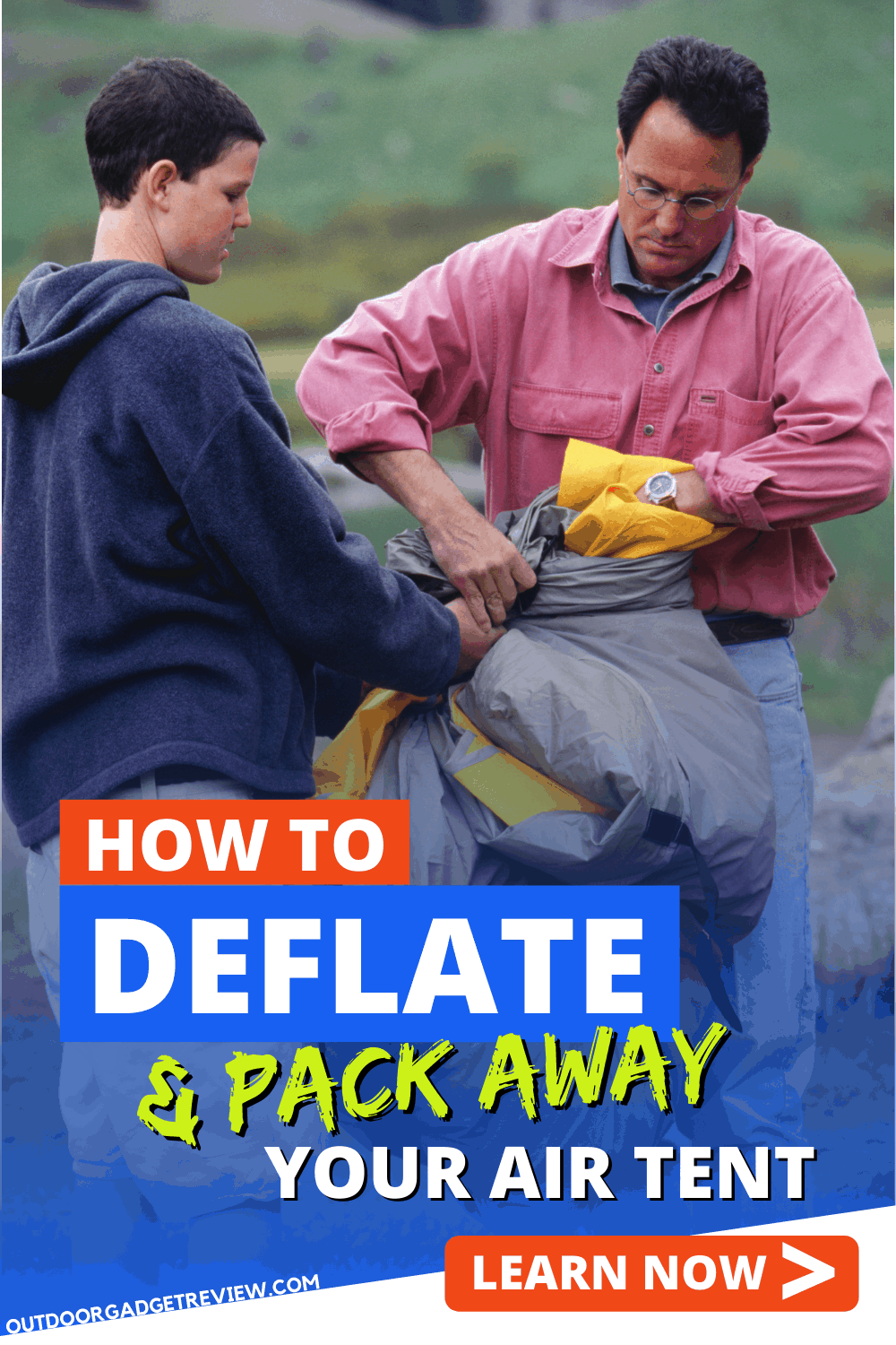 How to Deflate and Pack Away an Inflatable Tent (1)