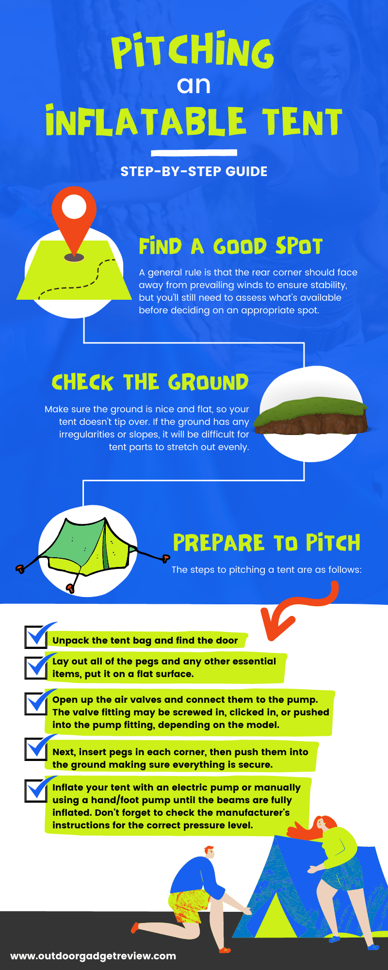 Pitching an Inflatable Tent Step-by-Step
