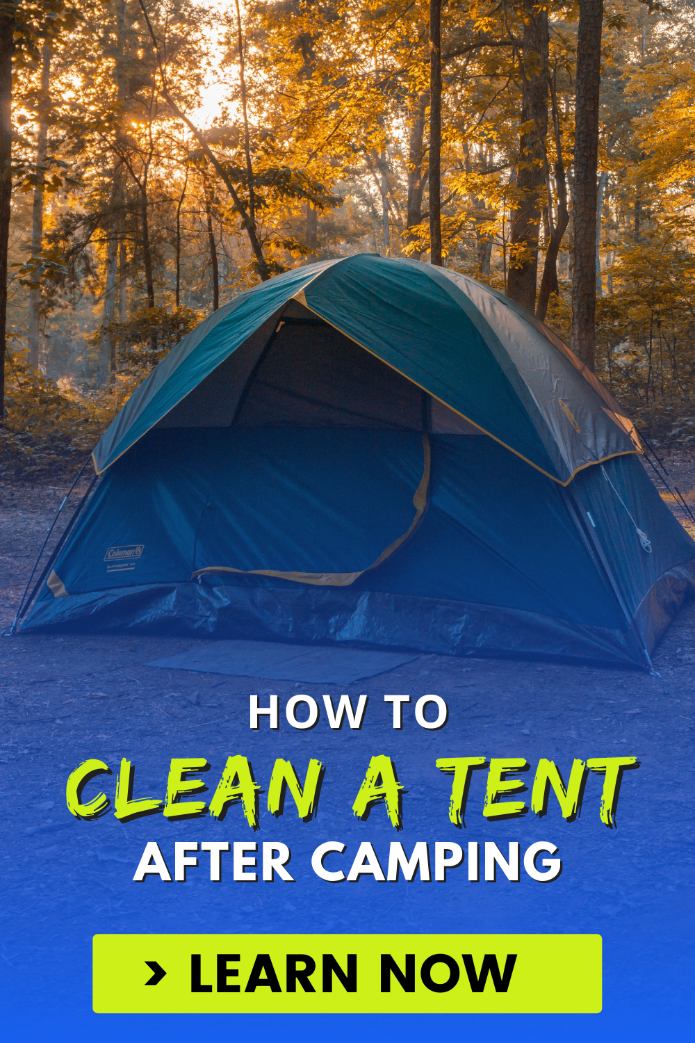 How to Clean a Tent After Camping
